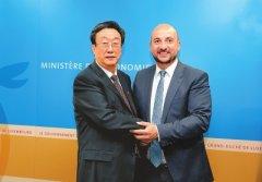 卢森堡大公国副首相兼经济部长埃蒂安·施耐德会见郭庚茂